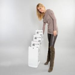 Espositore pieghevole 3 x A4 porta depliant Real bianco