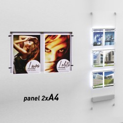 Fly shine panel light 2 x A4 Verticale