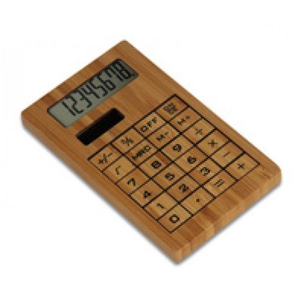 G16256-STC-SLV1 - Calcolatrice in bambù personalizzato
