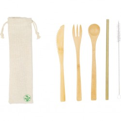 KIT POSATE IN BAMBU' ECOCOMPATIBILI