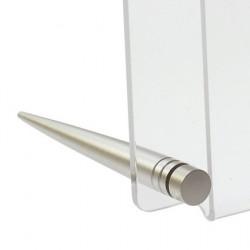 Supporto da tavolo Fisso Desk alluminio argento  (2pz)