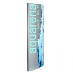 Totem pylo per esterni in alluminio 190 x 40 cm