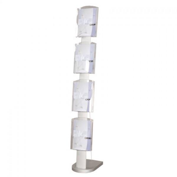 SOZ165AL - Espositore Portadepliant A4 o 2 x A6 da terra Solidzip