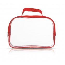 Beauty case trasparente rettangolare  personalizzato