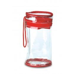 Beauty case  cilindrico trasparente personalizzato