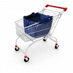 Borsa shopping in tnt  con ganci per carrello  personalizzata