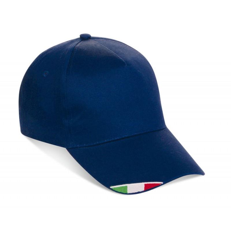 K18140-SST-SF - Cappellino 5 pannelli con bandiera italiana personalizzato 83235f9745ef