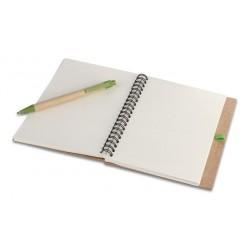 Blocco per appunti con penna a sfera e cartone riciclato personalizzato