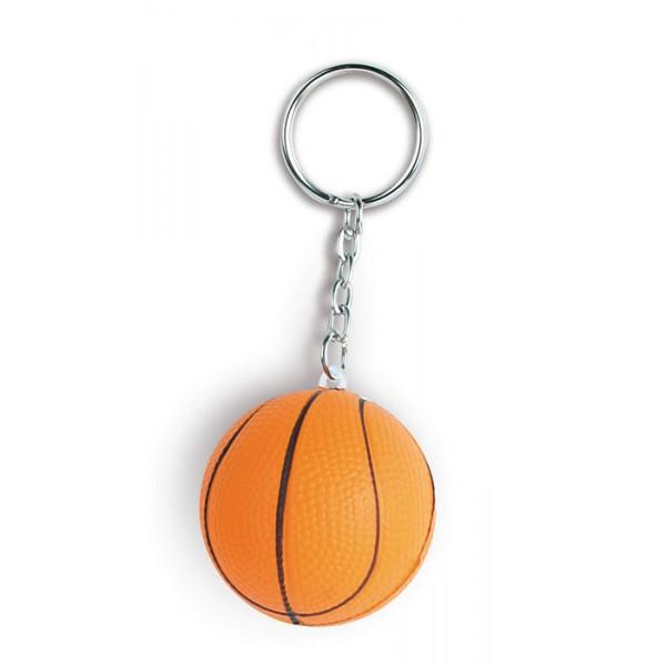 E14104-ST2-DIG - Portachiavi pallone da basket antistress personalizzato