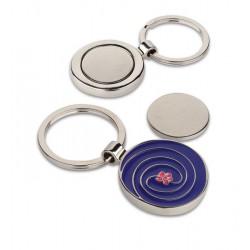 Portachiavi con portagettone in metallo smaltato  personalizzato