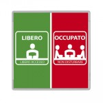 SIODE148148AL - Segna porta libero occupato signcode in-out