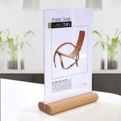 Espositore informazioni A6 base in legno Snaprex wood