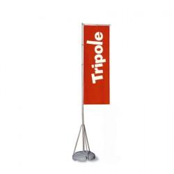 Asta porta bandiera Tripole set