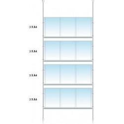 Vetrina 12 annunci A4 verticali con contrappeso