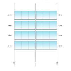 Vetrina 24 annunci A4 verticali sospesi